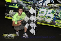 Michael Murphy led the IMCA Northern SportMods to victory lane for his first win of the season at Boone Speedway on Saturday, July 20, 2013.