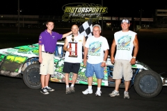 Kelly Lyons took home his first victory of the year in the IMCA Modified division at Boone Speedway on Saturday, July 23, 2011.