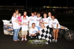 Daniel Tasler came out on top of the IMCA Northern SportMod feature at Boone Speedway on Saturday, July 23, 2011.