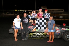 John Watson earned his fifth feature win of the season at Boone in the IMCA Hobby Stocks on Saturday, July 23, 2011.