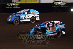 Mod Lite action at Boone Speedway on Saturday, July 27, 2013.