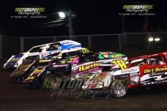 IMCA Modified action at Boone Speedway on Saturday, July 27, 2013.