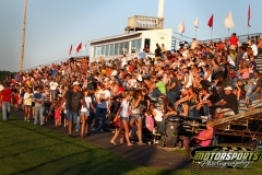 Crowds fill the stands at Boone Speedway during the Eve of Destruction on Monday, July 4, 2011.