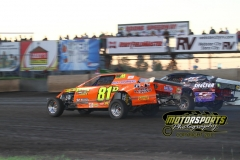 IMCA SportMod action during the Eve of Destruction at Boone Speedway on Monday, July 4, 2011.