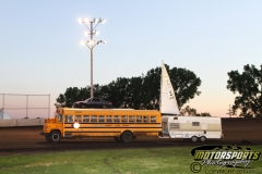 School busses still get used in the summer - for the Boone Speedway trailer races on Monday, July 4, 2011.