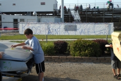 Kids Paint the Trailer Race Cars