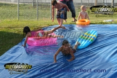 The Redneck Slip'N Slide was a popular activity during the July 4th Holiday Eve of Destruction at Boone Speedway.