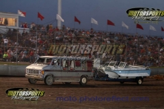 Boat trailer races at Boone Speedway's Eve of Destruction on Thursday, July 4, 2013.