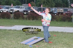 Racing Rascals had a good time with a game of bean bag toss at Boone Speedway on Saturday, July 6, 2013.