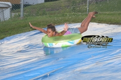 And away we go! Kids had a great time with the Boone Speedway slip'n slide on Saturday, July 6, 2013.
