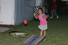 Bean bags were flying high for the Racing Rascals during fan appreciation night at Boone Speedway on Saturday, July 6, 2013.