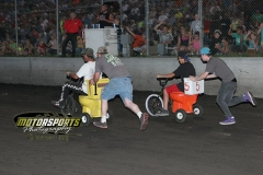 It was an exciting finish for the toilet bowl races, bringing laughter and fun to a packed house during fan appreciation night at Boone Speedway on Saturday, July 6, 2013.
