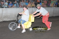 A standing room only crowd cheered the toilet bowl drivers to victory on Saturday, July 6, 2013, at Boone Speedway.