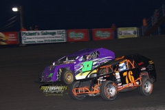Mod lite action at Boone Speedway on Saturday, June 6, 2013.