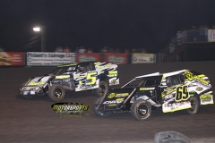 IMCA Modified action at Boone Speedway on Saturday, July 6, 2013.