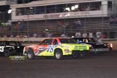 IMCA Hobby Stock action at Boone Speedway on Saturday, July 6, 2013.