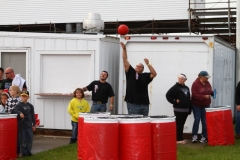 A giant size game of Beer Pong started the night off at Boone on Saturday, June 1, 2013.