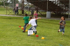 A race to the finish for Racing Rascal members in the June 1, 2013, obstacle course at Boone Speedway.