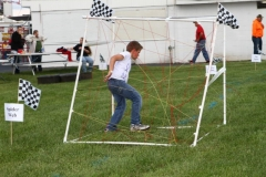 The spider web got Racing Rascals members all caught up as they raced to finish the obstacle course on June 1, 2013, at Boone Speedway.