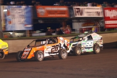 Mod Lite action at Boone Speedway on Saturday, June 1, 2013.