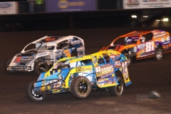IMCA Modified action at Boone Speedway on Saturday, June 1, 2013.