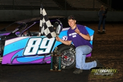 Bringing home the checkers was Travis Stensland in the Mod Lite division at Boone Speedway on Saturday, June 11, 2011.
