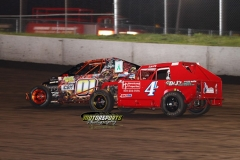 Mod lite action at Boone Speedway on Saturday, June 15, 2013.