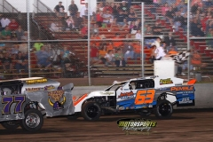 Daniel Tasler led the IMCA SportMods flag-to-flag for his second win of the season at Boone Speedway on Saturday, June 15, 2013.