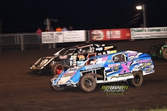 IMCA Modified action at Boone Speedway on Saturday, June 15, 2013.