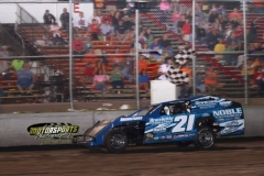 IMCA Modified driver David Brown led every circuit for his second win of the season at Boone Speedway on Saturday, June 15, 2013.