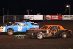 IMCA Hobby Stock action at Boone Speedway on Saturday, June 15, 2013.