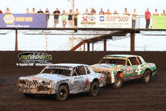 IMCA Hobby Stock action at Boone Speedway on Saturday, June 22, 2013.