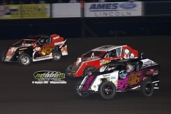 Mod Lite action at Boone Speedway on Saturday, June 22, 2013.