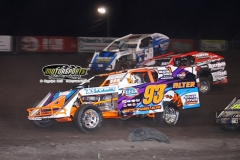 IMCA Modified action at Boone Speedway on Saturday, June 22, 2013.