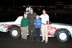 Jeff Johnson took the checkers in the IMCA Stock Car feature at Boone Speedway on Saturday, June 25, 2011.
