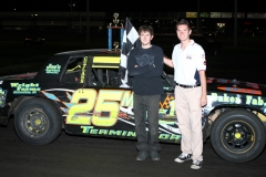 Michael Murphy led the IMCA Hobby Stock field to the checkers on Satuday, June 25, 2011, at Boone Speedway.