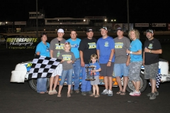 June 9, 2012 Stock Car Winner Cory Bushnell