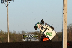 High flying action at Boone Speedway on Saturday, May 11.
