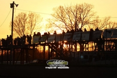 Fans line up on the catwalks at Boone Speedway on Saturday, May 11, 2013.