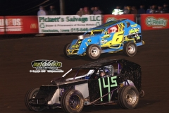 Mod lite action at Boone Speeway on Saturday, May 11, 2013.