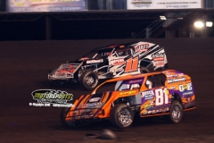 IMCA Modified action at Boone Speedway on Saturday, May 11, 2013.