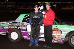 Mike Goldsberry put himself into victory lane at the Boone Speedway on Saturday, May 11, 2013.