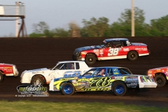 IMCA Hobby Stock action at Boone Speedway on Saturday, May 18, 2013.