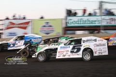 IMCA Modified action at Boone Speedway on May 18, 2013.
