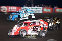 Mod Lite action at Boone Speedway on Saturday, May 18, 2013.