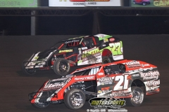 IMCA Modified action at Boone Speedway on Saturday, May 18, 2013.
