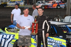 Brandon Williams was king of the hill in the Harris Auto Racing sponsored event on Saturday, May 18, 2013, at Boone Speedway.