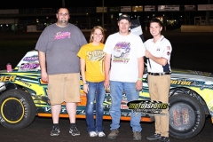 After starting in row six, Donavon Smith motored his way to the front for the win in his IMCA Stock Car at Boone Speedway on Saturday, May 18, 2013.