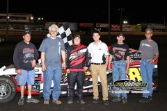 Leading start-to-finish, IMCA Modified driver Joel Bushore scored his first win of the season on Saturday, May 18, 2013, at Boone Speedway.
