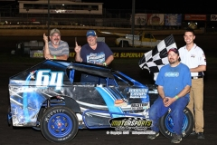 Randy Bryan held off Dusty Masolini at the checkers for the win in his Mod Lite at Boone Speedway on Saturday, May 18, 2013.